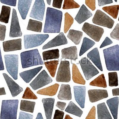 Fotomural Textura de pedra sem costura aquarela para seus projetos