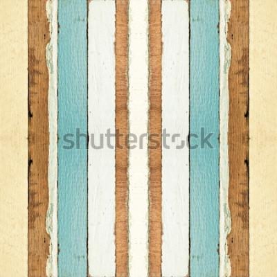Fotomural Textura de pranchas de madeira velha sem costura colorida, pode ser usada para o fundo