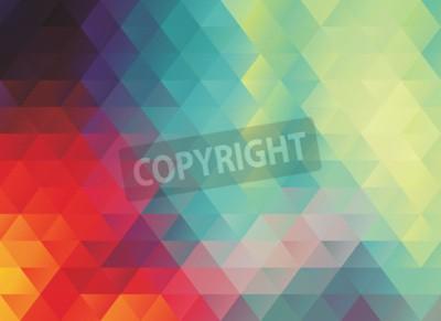 Fotomural Textura ou fundo de fundo abstrato poligonal colorido