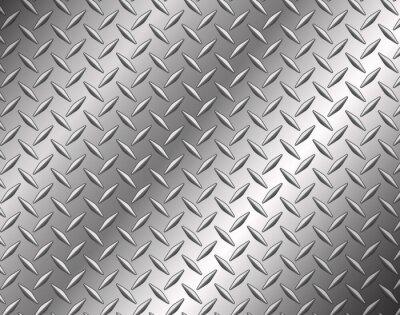 Fotomural The diamond steel metal texture background