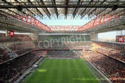 Fotomural The San Siro stadium during an AC Milan football game