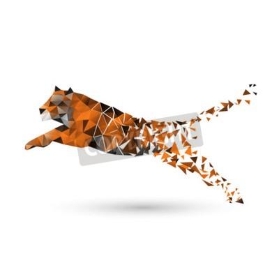 Fotomural Tigre de polígonos