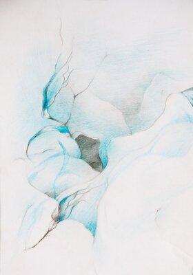 Fotomural tintas azuis