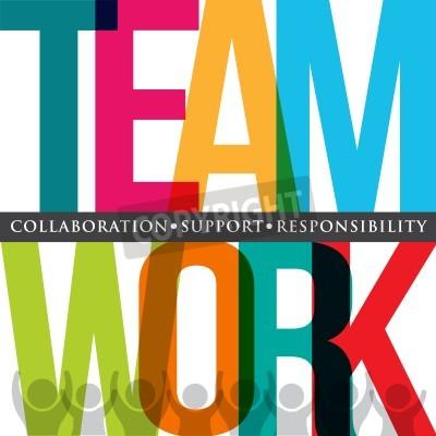 Fotomural Tipografia de trabalho em equipe