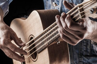 Fotomural Tocando ukulele bass