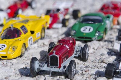 Fotomural Todos os modelos de carros clássicos em um sol