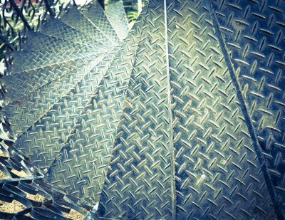 Fotomural Tom vintage ferro escadaria espiral fundo