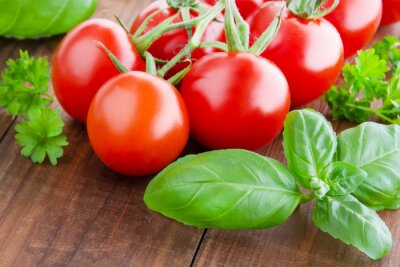 Fotomural Tomate e manjericão