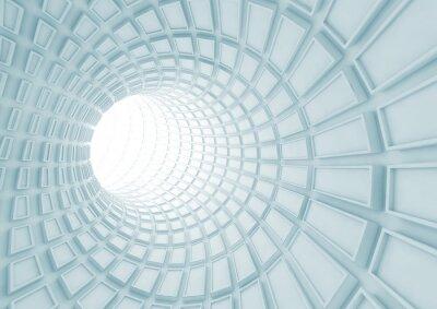 Fotomural Torneamento interior do túnel azul com telhas extrudidas