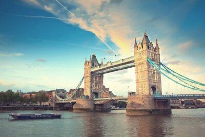Fotomural Torre, ponte, pôr do sol, londres