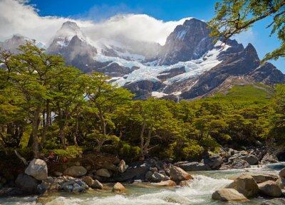 Fotomural Torres del Paine parque nacional. Patagonia, Chile