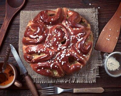 Fotomural Torta e utensílios de cozinha
