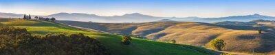 Fotomural Toscânia, paisagem, panorama, amanhecer, capela, madona, d