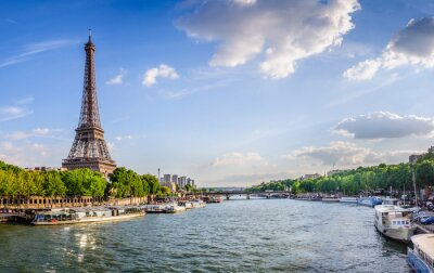 Fotomural Tour Eiffel et pont d'Iéna