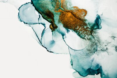 Fotomural Transparent creativity. Abstract clouds -ART.  Masterpiece of designing art. Inspired by the sky, as well as steam and smoke. Ink colors are amazingly bright, luminous, translucent, free-flowing.
