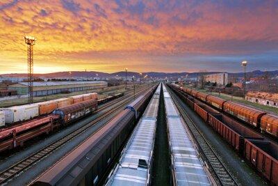 Fotomural Transporte ferroviário de cargas