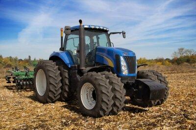 Fotomural Trator agrícola moderna com plantador