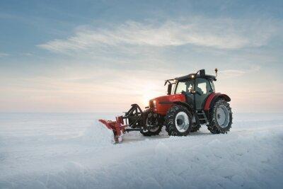 Fotomural Trator de limpeza de neve