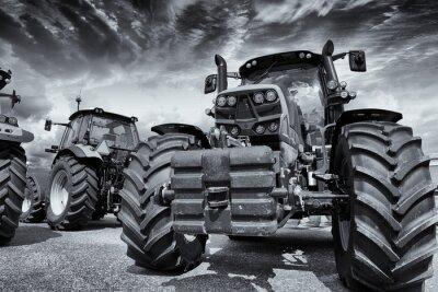 Fotomural tratores agrícolas e pneus gigantes