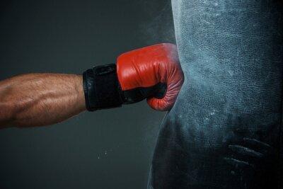 Fotomural Treinamento de boxe e saco de perfuração