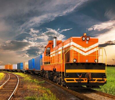 Fotomural trem de carga