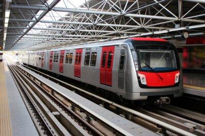 Fotomural Trem do metro na estação de metrô