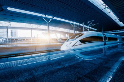 Fotomural trem em alta velocidade