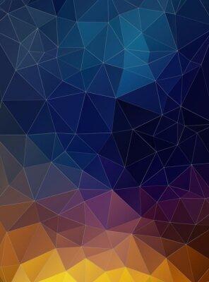 Fotomural Triângulo plano colorido Fundo geométrico