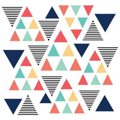 Fotomural Triângulo variação padrão de cor