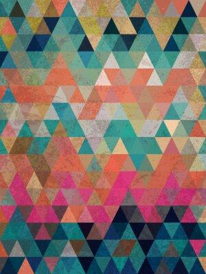 Fotomural Triângulos coloridos com fundo antigo do estilo