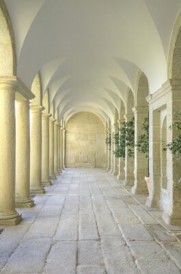 Fotomural Tribunal Mediterrâneo de colunas