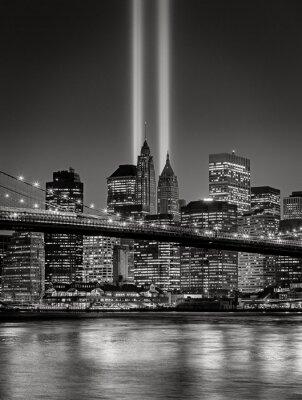 Fotomural Tributo em Luz, 11 de setembro Comemoração, New York City
