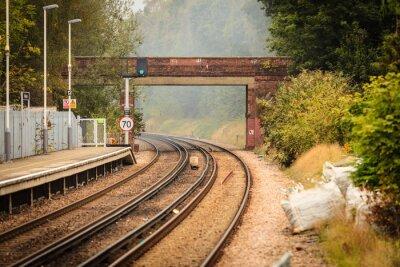 Fotomural Trilho, estrada, ferrovia, trilhas