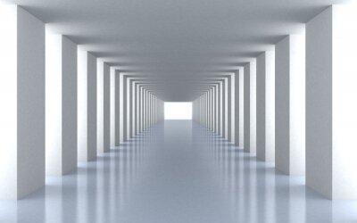 Fotomural Túnel de luz branca