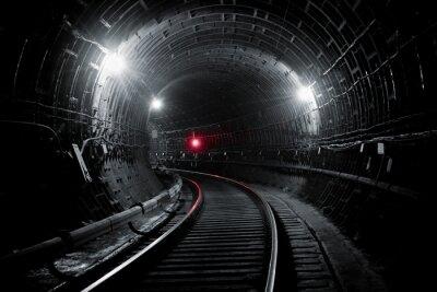 Fotomural Túnel do metrô de Kiev