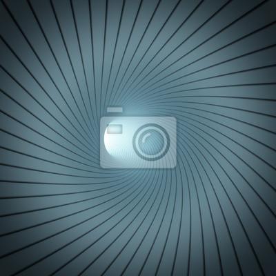 Fotomural Túnel Espiral abstrata