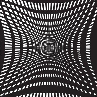 Fotomural Túnel preto e branco fundo abstrato
