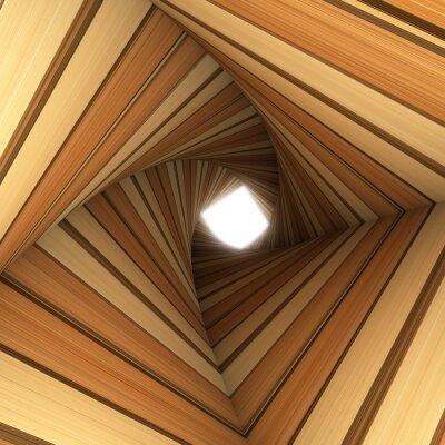 Fotomural túnel torcida madeira