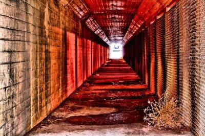Fotomural Túnel vermelho