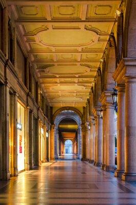 Fotomural Turim (Torino), arcadas típicas no centro histórico da cidade velha