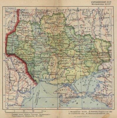 Fotomural Ucraniano SSR vintage mao.