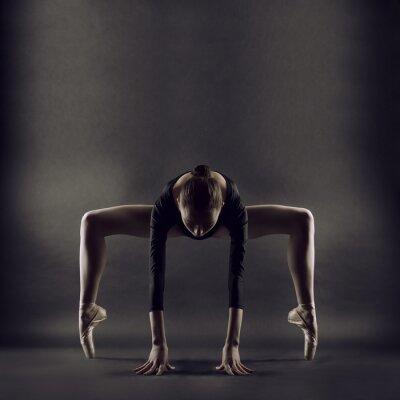 Fotomural Um retrato de uma mulher jovem ginasta bonita