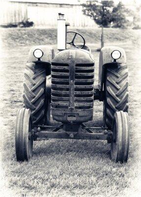 Fotomural Um Tractor agrícola velha - Levemente tonificou