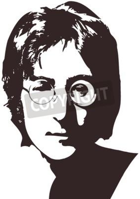 Fotomural Uma ilustração vetorial de um retrato do cantor John Lennon sobre um fundo branco. Formato A4, Eps 10 em camadas