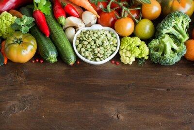Fotomural Uncooked, secos, split, verde, ervilhas, tigela, legumes