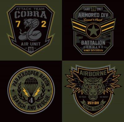Unidade especial de patch militar emblemas fotomural • fotomurais ... 8e360ef9904