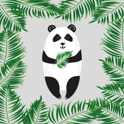 Fotomural Urso de panda bonito. Ilustração do vetor.