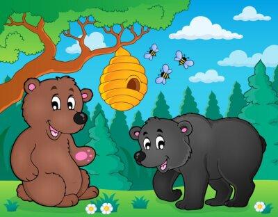 Fotomural Ursos na natureza tema imagem 4