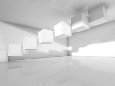 Fotomural Vazio, branca, arquitetura, 3, d, ilustração