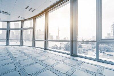Fotomural Vazio, escritório, sala, modernos, escritório, edifícios, amanhecer